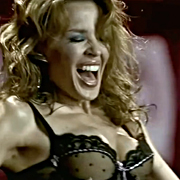 Kylie Minogue Strips Down to Lingerie, Has The Ride of Her Life